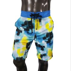 Robert Graham Blue Based Multi color Swim Trunk